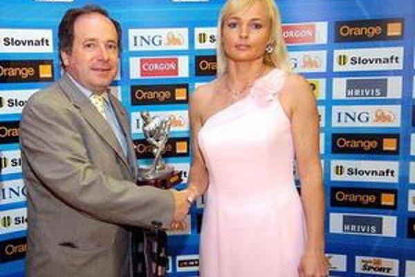 Na odovzdávaní prestížneho ocenenia. Martina Frantová získala titul Najlepšia hokejistka Slovenska.