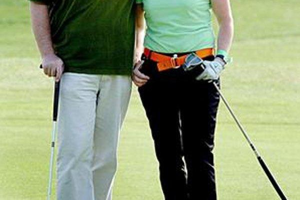 S manželkou. So Simonou ich spája nielen láska, ale aj obľúbený golf.
