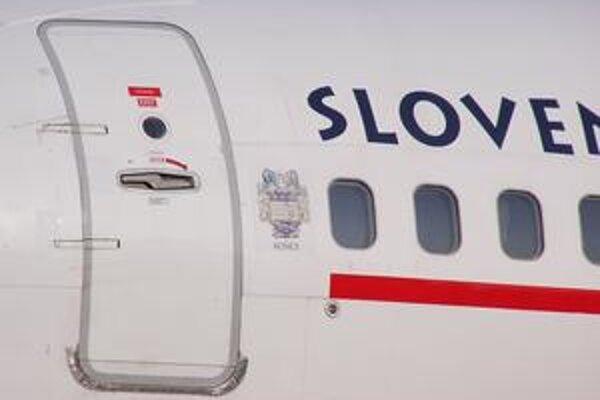 Znak Košíc na lietadle. Menom Košíc nazvali Slovenské aerolínie jedno zo svojich lietadiel.