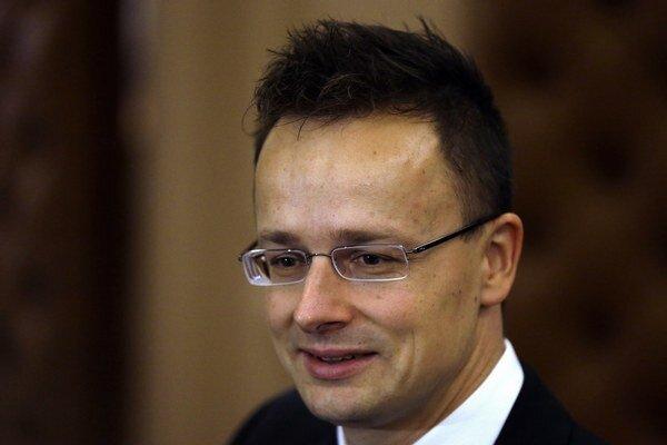 Maďarský minister zahraničných vecí a vonkajších ekonomických vzťahov Péter Szijjártó.