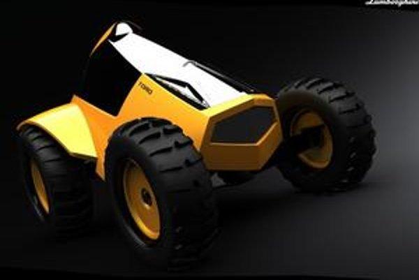 Koncepčný traktor Lamborghini.
