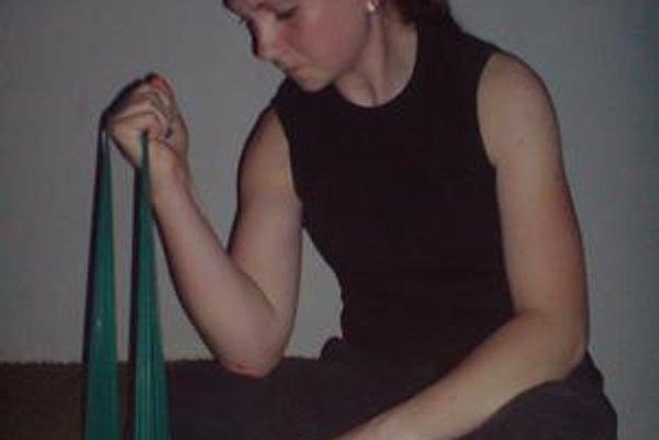 Zuzana cvičí aj doma.