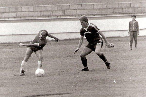 V drese humenského Chemlonu. Ladislav Vasilenko na snímke vpravo.