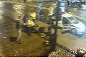 Momentka z incidentu. Na miesto činu prišli policajti.