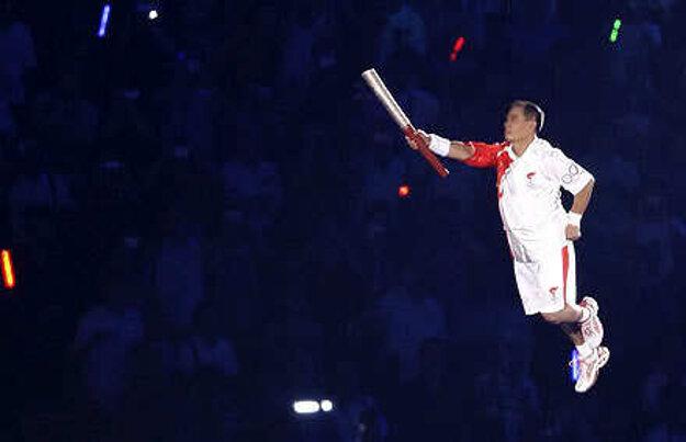 Legenda gymnastiky Li Ning.