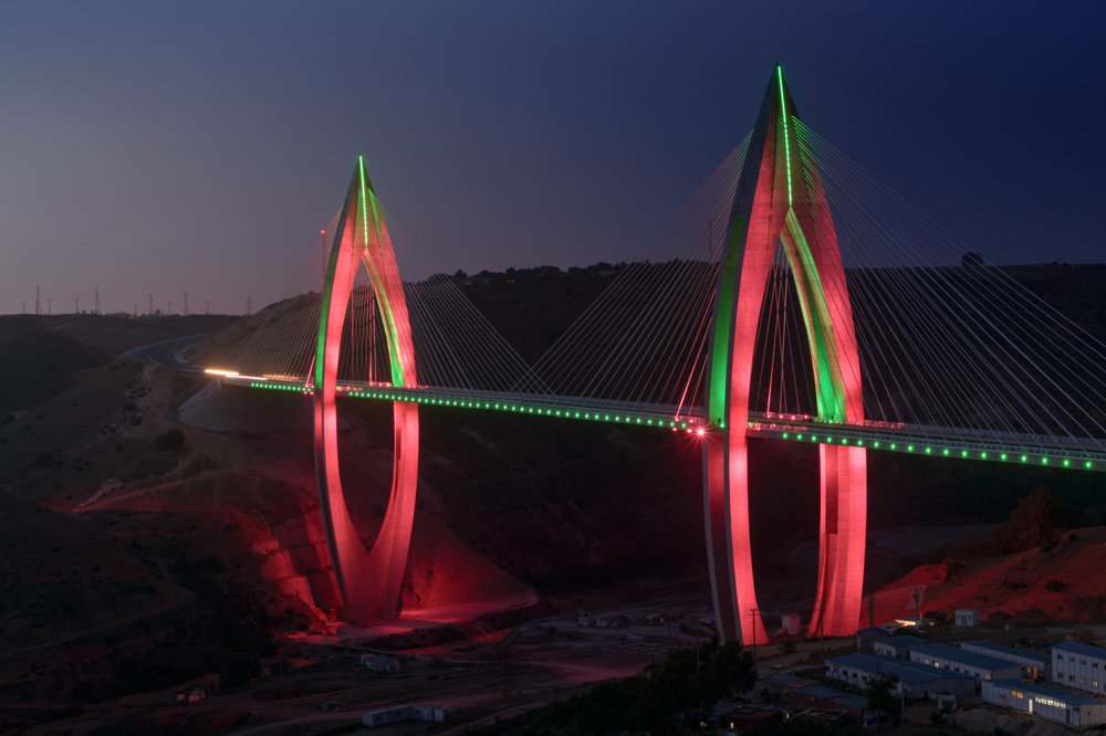 Most kráľa Mohammeda VI stojí je najdlhší visutý most v Afrike.
