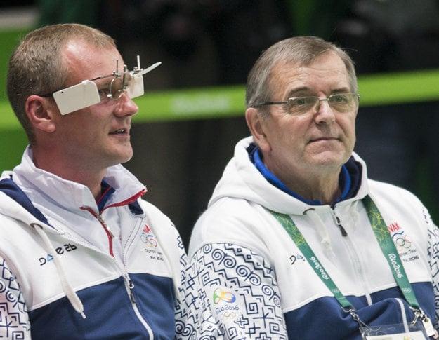 Pavol Kopp (vľavo) a jeho tréner Ivan Némethy.