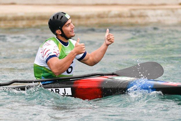 Jakub Grigar sa usmieval aj po skončení finálovej jazdy.