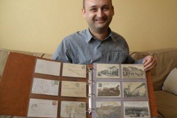 Michal Dobiaš zbiera pohľadnice len pár rokov.