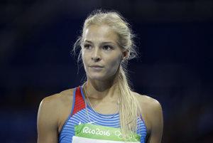 Daria Klišinová bola v Riu jedinou ruskou atlétkou.