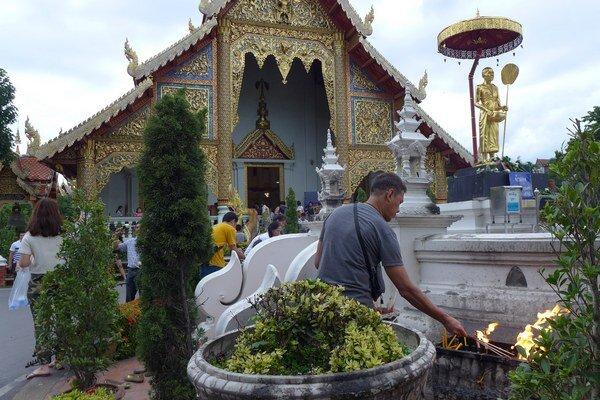 Slávnosti v Thajsku.