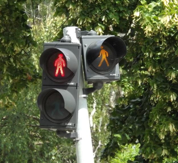 Niektorí vodiči panáčika upozorňujúceho na chodcov igorujú, vytrubujú a ukazujú vulgárne gestá.