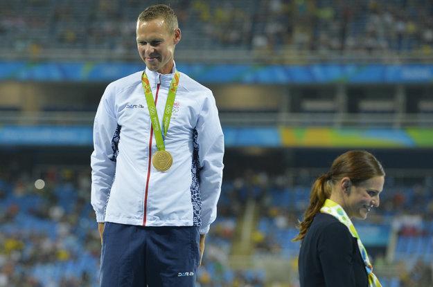 Danka Barteková po dekorovaní Mateja Tótha zlatou olympijskou medailou.