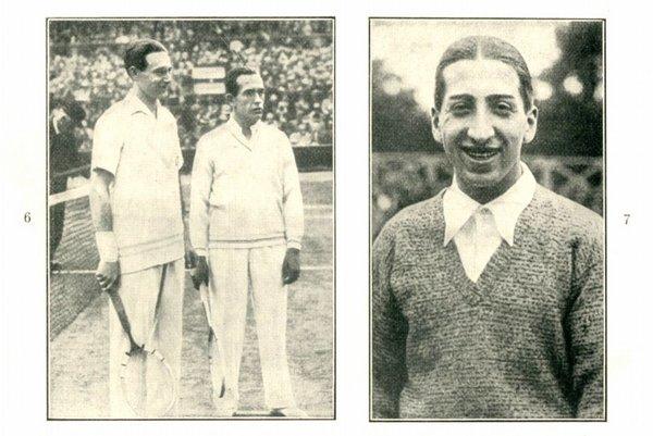 Tenisti Borotra a Cochet v tradičnom bielom elegantnom odeve. Vpravo: Henry Lacoste – osobnosť v športe i móde.