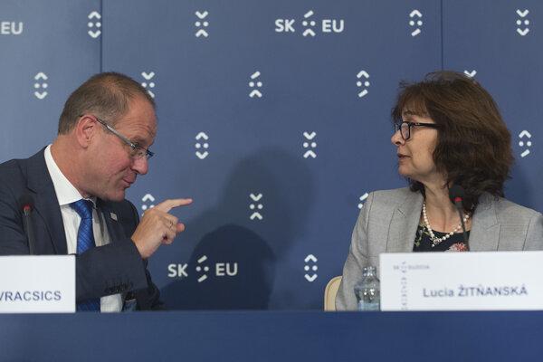 Lucia Žitňanská a Tibor Navracsics.
