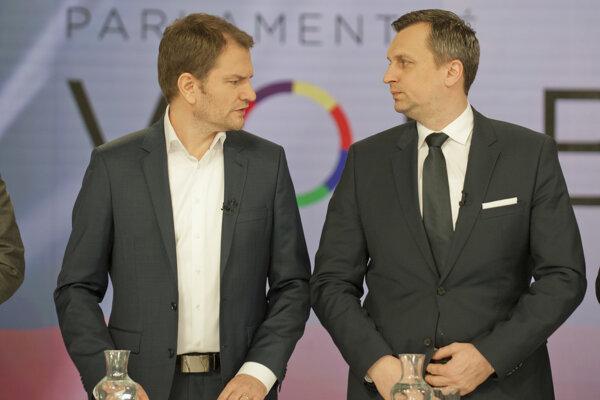 Zľava Igor Matovič a Andrej Danko.