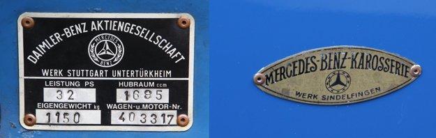 Zatiaľ čo motor, podvozok a mechanické časti sa produkovali v závode Untertürkheim, karosérie sa vyrábali v závode Sindelfingen.