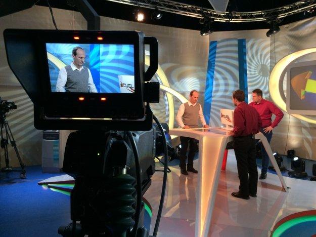 Televízne štúdio vedomostnej súťaže Duel.