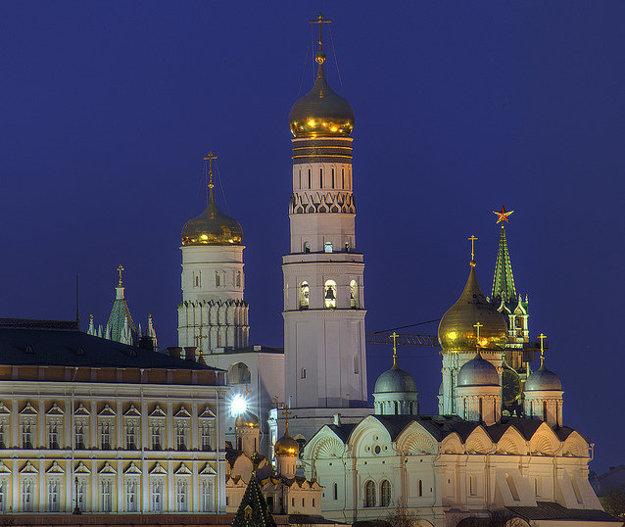 Zvonica Ivana Veľkého v moskovskom Kremli.