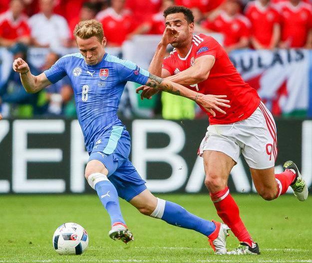 Ondrej Duda (vľavo) bol súčasťou slovenského kádra aj na EURO 2016 vo Francúzsku.