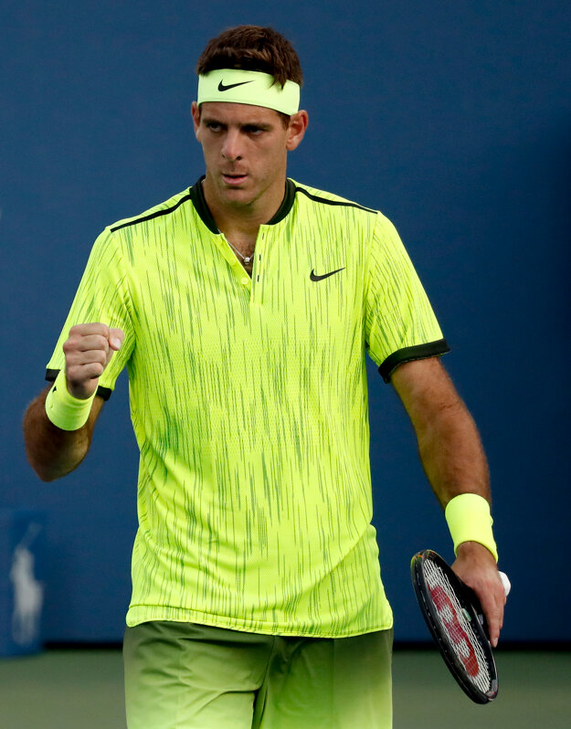 Juan Martin Del Potro vo víťaznom geste aké na US Open nezažil už tri roky.