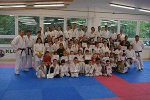 Karatisti z Klubu Karate Žilina.
