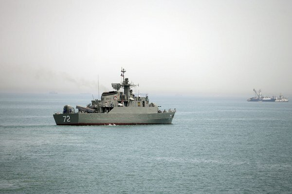 Iránska vojenská loď Alborz.
