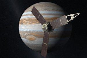 Vizualizácie sondy Juno.
