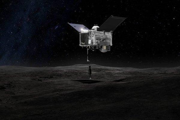 Umelecký nákres sondy OSIRIS-REx.