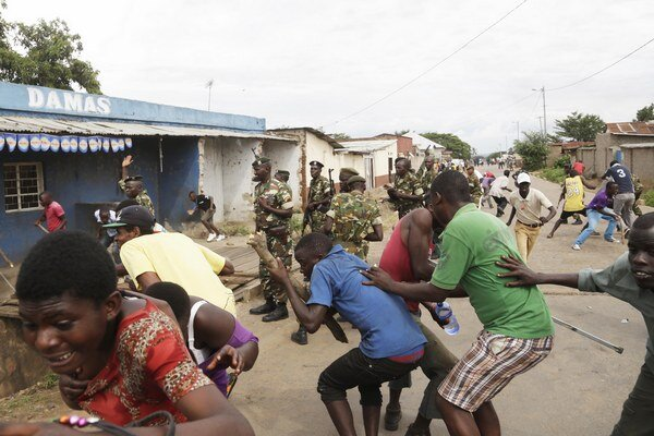 Protesty v Bujumbure.