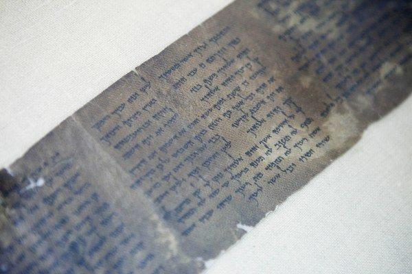 Najstarší písomný záznam desiatich Božích prikázaní.