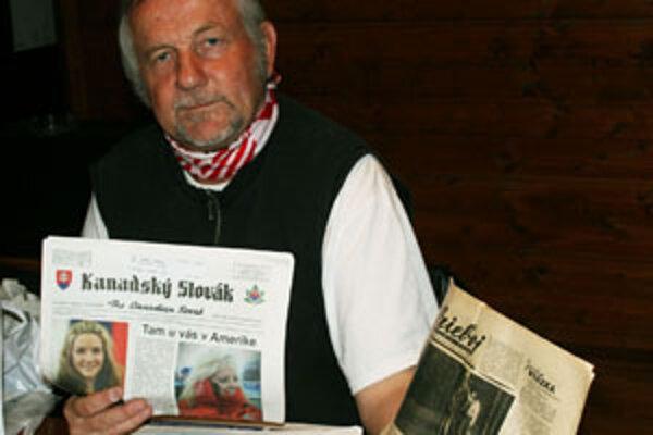 Pavol Stacho aj s Priebojom, v ktorom bola pred rokmi fotka s jeho tvárou.