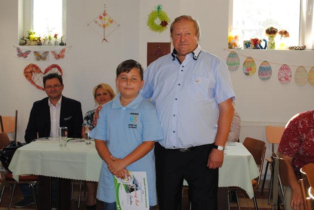 Najmladší člen. Alexander Čiževský má desať rokov.