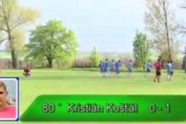 Kristián Košťál strelil jediný gól zápasu.