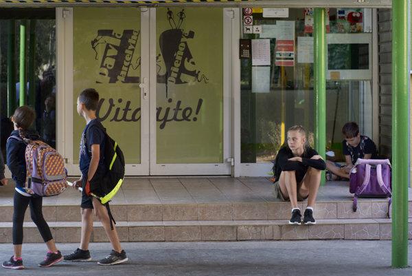 Do štrajku sa zapojil aj Základná škola Pavla Marcelyho v Bratislave.