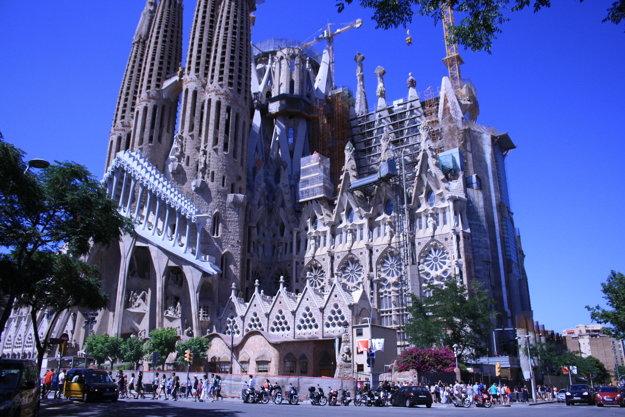 La Sagrada Familia stále nie je dokončená.