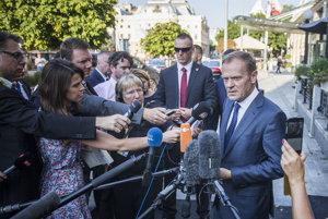 Donald Tusk pred summitom v Bratislave.