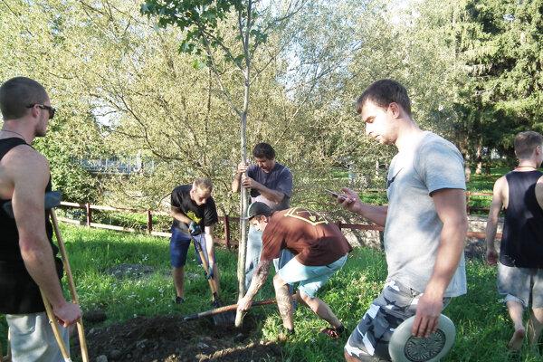 Mladí ľudia sami stromy aj zasadili.