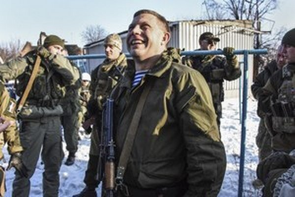 Líder separatistov Alexandr Zacharčenko.