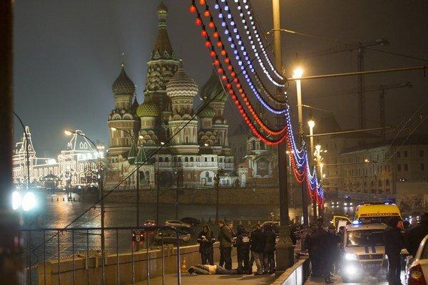 Nemcova zastrelili len pár metrov od Kremľa.