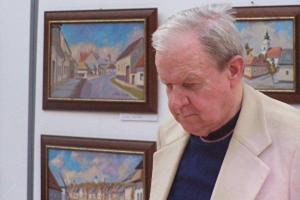 Bazil Vestenický maľoval Prievidzu, ktorú miloval.