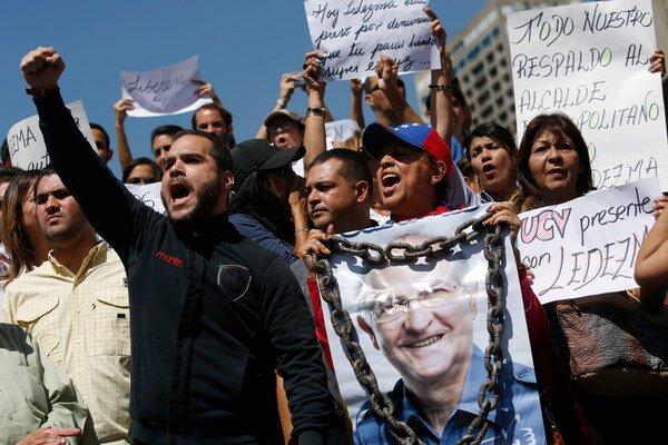 Protest po zatknutí starostu Caracasu.
