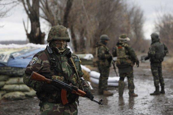 Ukrajinskí vojaci.