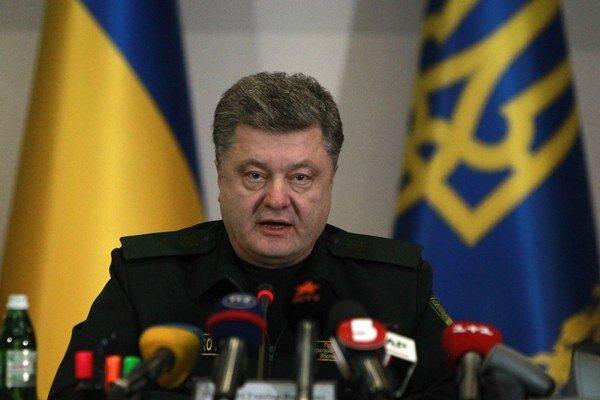 Ukrajinský prezident Petro Porošenko v prejave počas oficiálneho vyhlásenia prímeria.