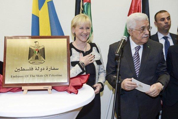 Mahmúd Abbás otvára palestínske veľvyslanectvo vo Švédsku.