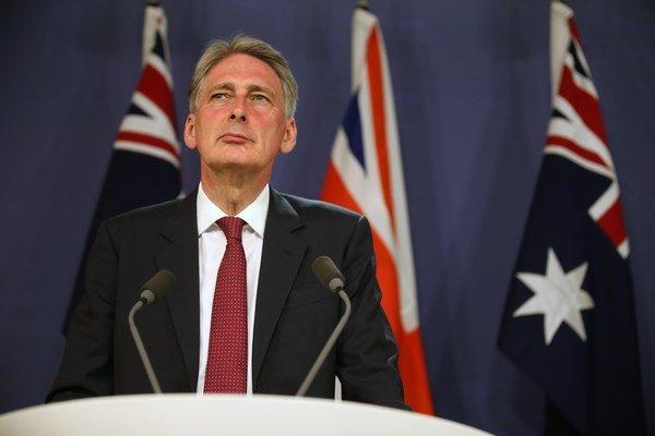 Britský minister zahraničných vecí Philip Hammond.