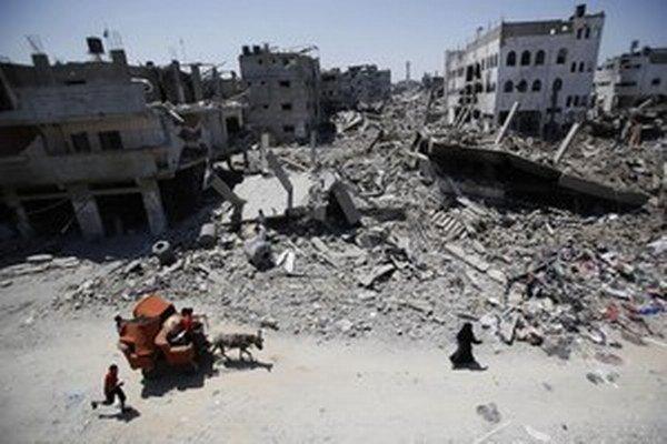 Zničené pásmo Gazy.