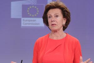 Exkomisárka Neelie Kroesová.