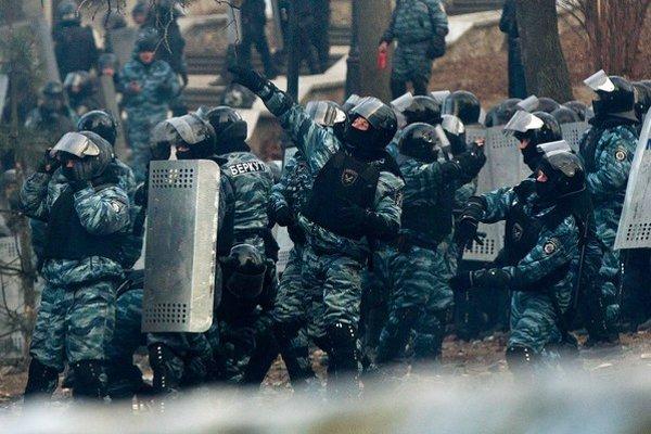 Jednotky Berkut v Kyjeve.