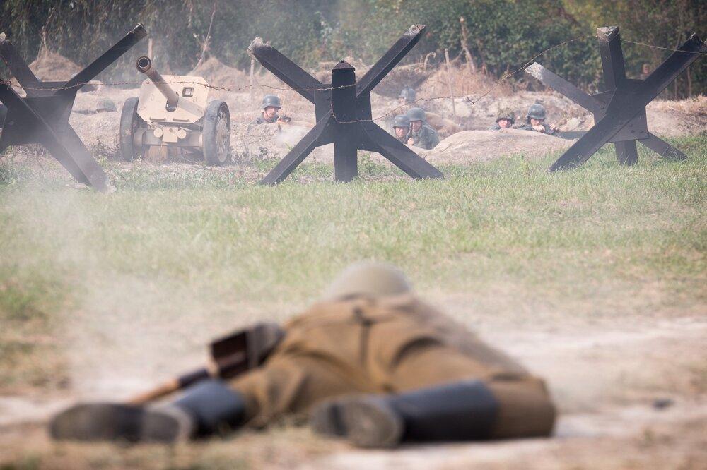 Rekonštrukcia bojov o Petržalku.